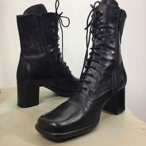 Walkings Square Toe Leather Boots 9